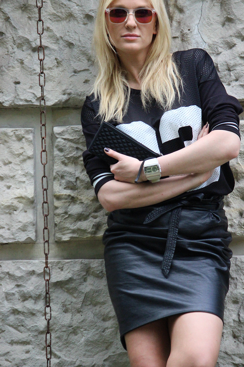 Outfit Of The Day: Leather Skirt