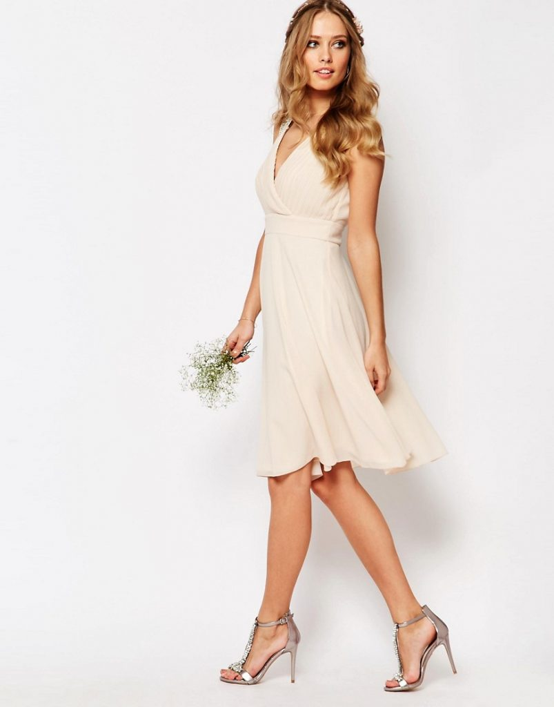 TFNC Wedding embellished shoulder dress. bruiloft outfit